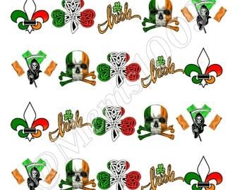 St. Patrick's Day Luck of the Irish Nail Art Waterslide Decals-Irish pride decals