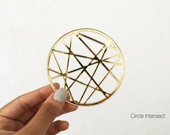 Cut-Out Gold Coasters
