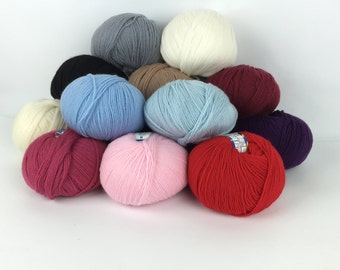 12 colors! - Italian Yarn Adriafil Avantgarde - Wool Yarn - Winter Yarn - Knitting Yarn - Crochet Yarn -
