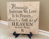Remembrance Tile, Remembrance Gift, Loss of Father, Loss of Mother, Infant Loss, Baby Loss, Loss of Husband, Pet Loss, Funeral, Funeral Gift