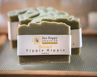 SOAP~Yippie Hippie~Organic Soap~Cold Process Soap~Handmade Soap~Gift