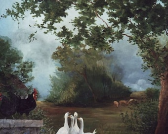 It is a panoramic shot: a large painting of 2.50 x 2 m destnee to decorate a room or hallway