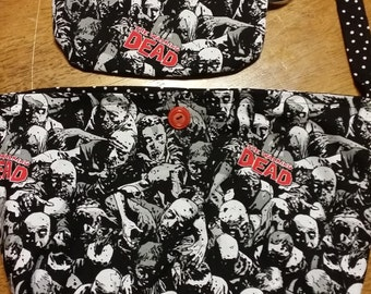 Homemade Walking Dead Purse with Matching Wristlet