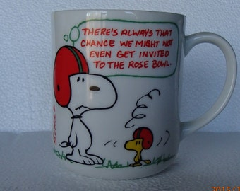 "SnoopyAnd Woodstock ""Rose Bowl"" Mug"