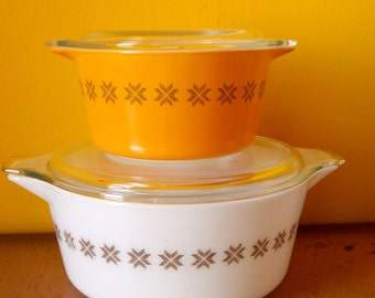 Pyrex Town and Country casserole dishes