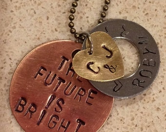 Personalized Stamped Metal Necklace