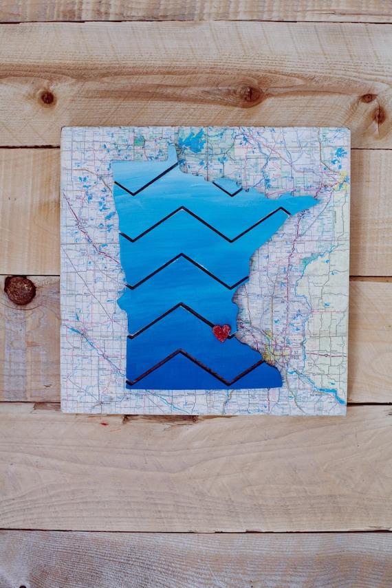 Make-It-Yourself Minnesota Chevron Craft Kit