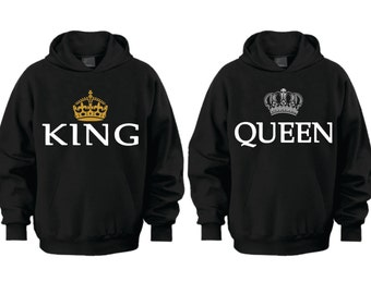 king and queen hoodies etsy. Black Bedroom Furniture Sets. Home Design Ideas