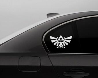 Legend of Zelda Car Decal - Link Triforce Bird - Video Game Car Decal Geek Bumper Sticker Nerdy Window Sticker Gamer Decal