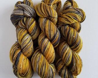 NO RAIN- Hand Painted Tweed Sock Yarn- Hand Dyed Superwash Merino NEP- 438 yards