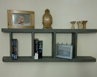 Upcycled ladder display shelf