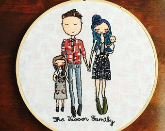 Embroidered Family Portraits