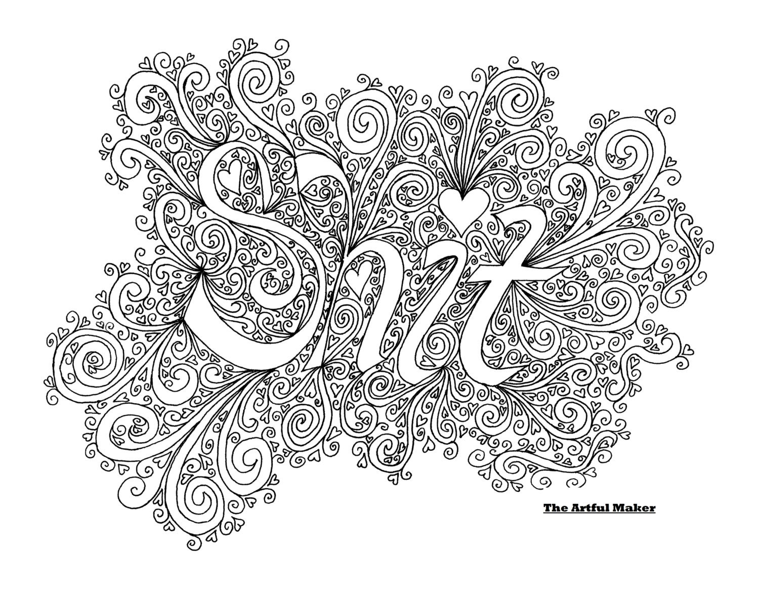coloring page by the artful maker