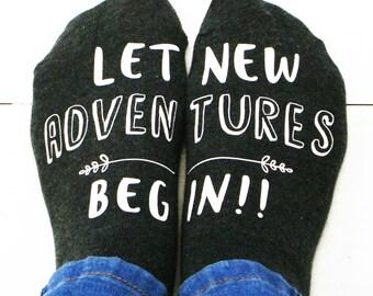 New Adventure Women's Socks - Let New Adventures Begin Socks