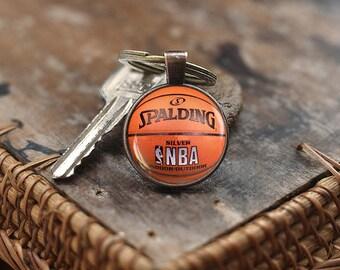 Basketball Keychain, Basketball gift, Sport Keychain, men's Keychain, Basketball player Gift, Basketball Fan Gift, Basketball Gift idea