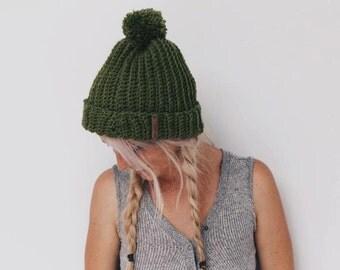 Chunky Textured Knit Beanie {Highlands}