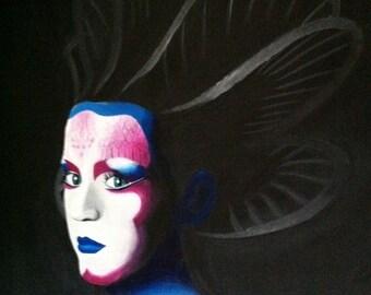 Katy Perry E.T. inspired acrylic painting