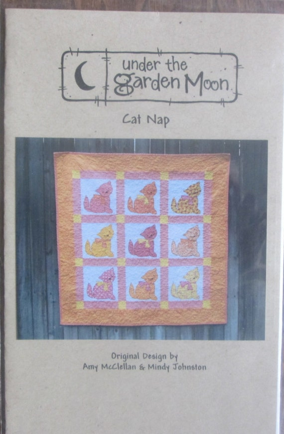 Sale patterns under the garden moon cat nap for Under the garden moon