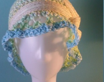 Crocheted cloche hat for summer