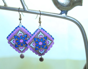 Teracotta earrings..Opening Sale.Deeply discounted price