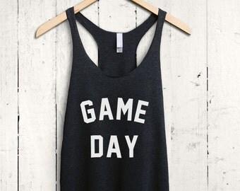 Game Day shirt - game day tank top, soccer mom shirt, football mom top, football fan shirt, womens football top, baseball fan shirt