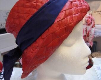 1950/60s rafia hat