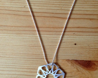 silver geometric pendant