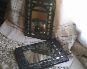 Mifrors.Very rare antique mirtrors. Old mirrors with silver handware. Befofe 1800.