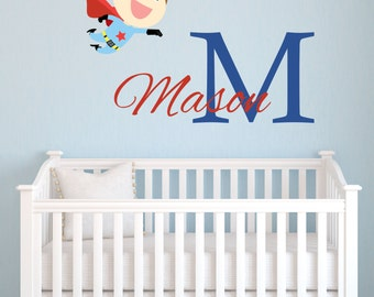 Superhero Wall Decals Etsy - Superhero wall decals for kids rooms
