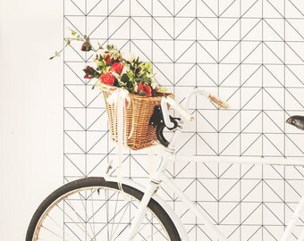 Geometric Wallpaper / Traditional or Removable Wallpaper A004