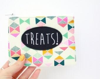 Friendship Gift, treat purse, geometric purse, coin purse