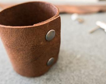 Leather Snap Cuff / Oiled Leather Cuff / Leather Cuff / Bracelet / Leather Bracelet