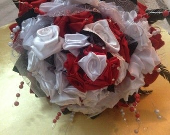 Wedding Bouquet with Satin Roses