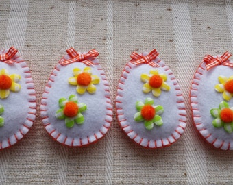 Felt Easter eggs decorations