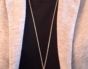 Long leaf necklace, gold leaf necklace, long necklace, leaf pendant necklace