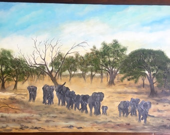 Elephants in Matobo National Park, Simbabwe