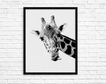 Zoo Animal Print, Giraffe Art Print, Giraffe Wall Art, Giraffe Nursery, Nursery Giraffe, Safari Art, Giraffe Poster, Giraffe Nursery Art