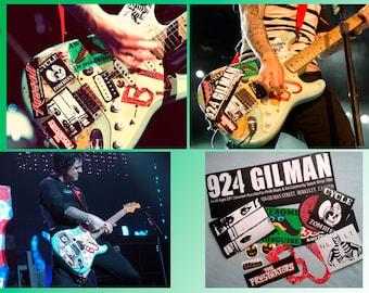 Billie Joe Armstrong guitar stickers vinyl decal Green Day Version 2013 Full set 13