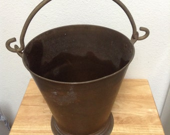 Solid Brass Bucket Vintage Brass Pale Made in India
