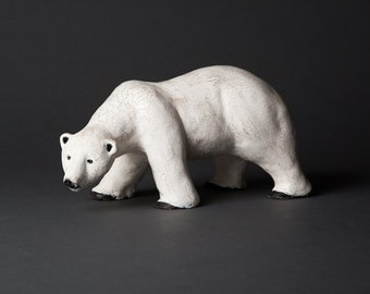 Ours blanc sculpture
