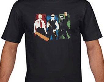 Shaun Of The Dead t-shirt Sean Pegg Hot Fuzz parody tshirt S M L XL