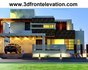 New Australian House Drawings Design Architecture 3D Front Elevation