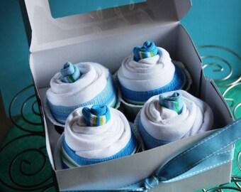 Newborn Cupcake Onesie Gift Set - Boy, Girl or Gender Neutral
