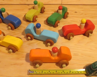 Rubber Band Powered Race Car Wooden Toy Kids Wood Toy