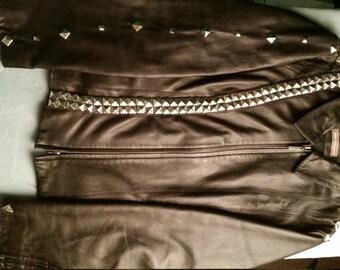Vintage Leather Stud Jacket