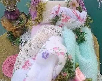 CUSTOM! Fairy Bed, OOAK, Handmade, ADORABLE!