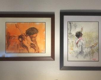 Hendrix in Orange and Fringe (Pair)