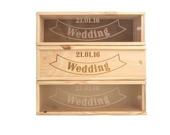 Wooden Wine Box (single) - Wedding banner