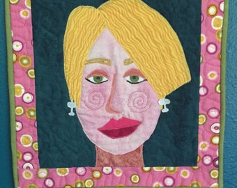 Art quilt - portrait art quilt
