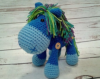 Handmade crochet pony